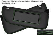 Green stitch 2x pare-soleil peau cuir couvre fits CITROEN DS3 2009-2014