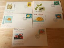 Collectible stamps lot of five Ryukyu first day issues fish art hard to find
