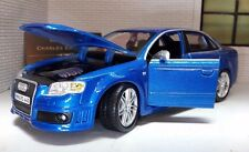 G LGB 1:24 Scale Metalic Blue VW Audi A4 RS4 TDi TSI Burago Detailed Model 22104