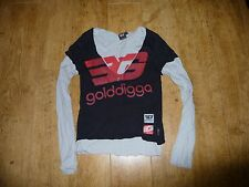 Golddigga Women's Black Long Sleeve Top size XS