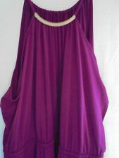 New Lane Bryant $90 Metal Necklace Halter Maxi Dress Red Wine Plus Size 26/28 4X