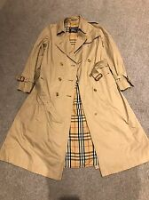 Burberry Trench Coat Classic Beige Mac Swing Raincoat UK 12 Vintage Burberry's