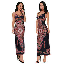 Sexy Womens Boho Floral Print Summer Evening Cocktail Party Beach Maxi Dress