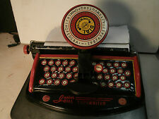 VINTAGE WORKING TIN MARX JUNIOR DIAL TYPEWRITER TOY