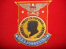 """Vietnam War Patch Aircraft Carrier USS FORRESTAL CV-59 """"FIRST IN DEFENSE"""""""