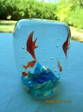 HEIRLOOM COLLECTION DYNASTY GALLERY ART  GLASS PAPERWEIGHT ANGEL FISH AQUARIUM