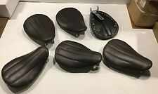 2110/BRLR Harley Davidson Brown Leather Ribbed Patten Solo Seat (Loc:9)