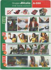 Gruppo ALITALIA old EUROFLY airline A330 SAFETY CARD e022 ee