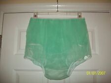 2 FULL LAYERS Mint Green SHEER NYLON Bubble PANTY Sleeve Pocket BRIEFS 30-42""