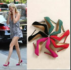 New Sexy Womens High Heels Pointed Toe Shallow mouth Stilettos Flats Shoes WW73