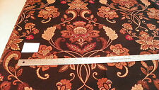 Black Gold Tan Print Jacquard Fabric/Upholstery Fabric Remnant F999