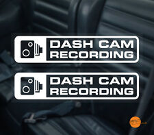 Dashcam Window sticker / in car CCTV / Dash Cam Recording Warning Sticker