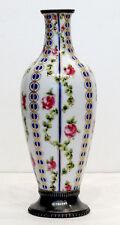 18th 1778 Antique SEVRES Porcelain Vase STERLING SILVER Mounts MARIE ANTOINETTE