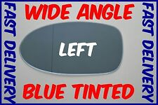 BMW 5 E39 M5 1997 - 2003 WING MIRROR GLASS BLUE WIDE ANGLE LEFT