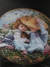 Reco 1989 Sandra Kuck A TIME TO LOVE March of Dimes Series Puppy Ltd Ed Plate