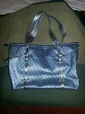 DKNY Coated Tote Silver Pewter Medium Handbag Purse