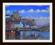 """TOBERMORY Harbour Mull Originale Marine Pittura a olio con Kevin corroue 16"""" x 12"""""""