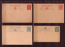 "2#Malaya Straits Settlements 4 Postcard Cover ""Queen Victoria"" Look"