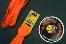 "Orange Thin Flat 27"" x (3/8""-5/8"") JN Shoelaces Shoe Strings Piranha Records"