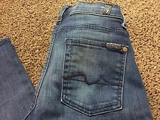 Women's Size 28 7 for All Mankind ROXANNE Mid Rise Skinny Rare Jeans Seven