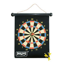 Dart Board Magnetic Roll Up Boyz Toyz Portable Travel Camping Party with 6 Darts
