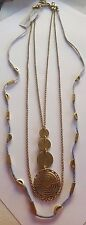 LUCKY BRAND THREE STRAND GOLD TONE NECKLACE