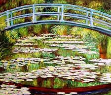 "Claude Monet  Repro  Oil Painting - Japanese Footbridge - size 30""x26"""