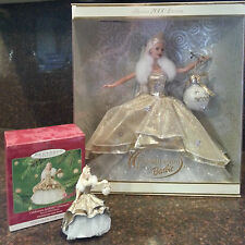 2000 Mattel Celebration Barbie Doll and matching Hallmark Ornament set - NIB