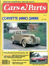 1981 CARS & PARTS MAGAZIN 7 FORD CONVERTIBLE COUPE JAGUAR XKE ROADSTER DODGE