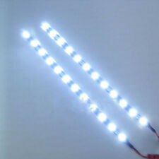 "2Pc Cool White 12 LEDs 30cm/11.8"" 5050 SMD LED Strip Light Waterproof 12V Car"