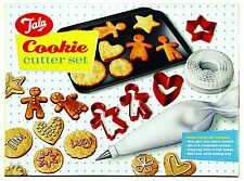 Tala Christmas Cookie Cutter Set of 10 Gingerbread Man & Woman,Heart,Star,Circle