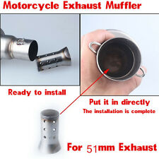 Universal Motorcycle Stainless Exhaust Muffler Can Silencer for 51mm Exhaust