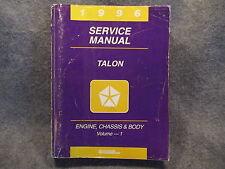 1996 Eagle Talon Engine Chassis & Body Volume 1 Service Manual Guide Book Y364