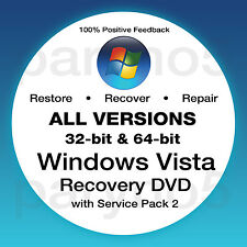 WINDOWS VISTA HOME PREMIUM 32 Recovery Install Reinstall Restore DVD Disc Disk