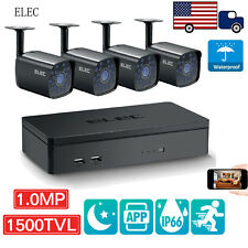 ELEC® Wired 4CH 960H DVR 1500TVL Indoor IR Home CCTV Security Camera System Kit
