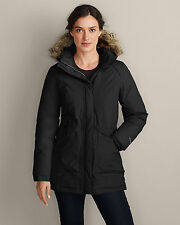 Eddie Bauer 2014 Women's Superior Down Parka Coat Size X-Large XL Black