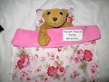 DOLL blanket cot pram BEDDING pillow FLEECE teddy Cath Kidston ROSALI