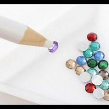5Pcs Wax Dotting Pen Pencil Crayon Pick Up Rhinestones Gem Crystal Tips NailB1