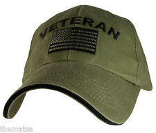 ARMED FORCES VETERAN FLAG OD EMBROIDERED MILITARY HAT CAP