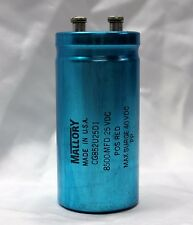 Mallory 8,500UF 25VDC Electrolytic Capacitor
