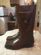 RARE cavalry harness cowboy western biker motorcycle men boots sz 9 gay interest