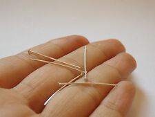 10 sterling silver 925 earring head pin earring finding wire 25mm