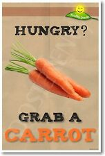 Hungry - Grab a Carrot - NEW Health and Nutrition Healthy Eating Diet POSTER