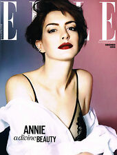 ELLE UK 11/2014 ANNE HATHAWAY Leaf Zhang KAROLINA WAZ Rebecca Marcos @NEW Ltd Ed