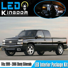 18PCS 99-06 For Chevy Silverado Car Interior LED Light Package Deal Xenon White