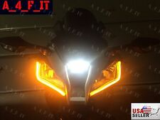 2x Universal Motorcycle Bike Amber LED Turn Signal Indicator Blinker Light New Z