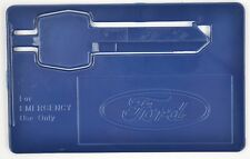 1980's - 1990's Ford Emergency Wallet Key Blue Plastic Backup Spare Credit Card