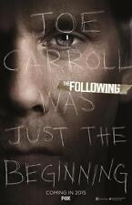 """THE FOLLOWING - 11""""x17"""" Original Promo TV Poster SDCC 2014 Kevin Bacon MINT"""