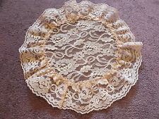 Collectible Beautiful Lace Doily Table Linen Light Peach 12 Inch Dainty NICE