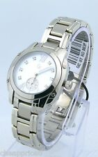 New Guess Collection GC A55121L1 Bella Diamond MOP Watch SS Silver Bracelet